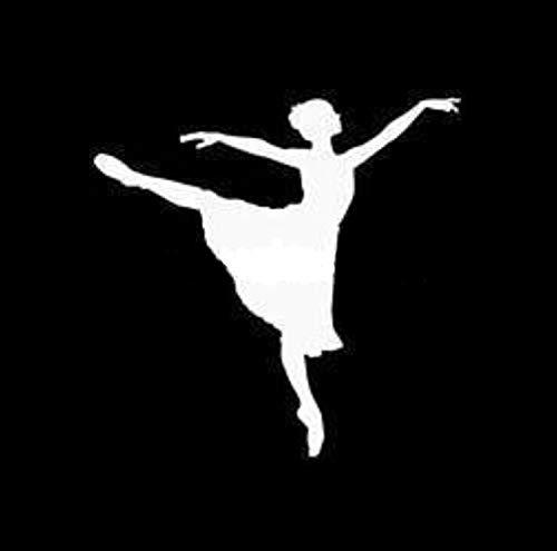 Black Box car Sticker 12 * 12 cm Ballerina Tanz Auto Aufkleber Aufkleber Fun Ballerina Motorrad Abziehbilder Auto Aufkleber Dekorativ Black Box car Sticker (Color Name : Silver)