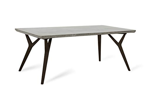 Limari Home Jacek Collection Modern Style Concrete Room And Kitchen Dining Table With Wood Legs 30 Tall Grey Buy Online In Madagascar At Madagascar Desertcart Com Productid 46886756