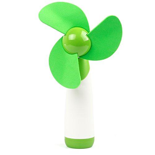 TRIXES Handventilator mit Softblades in Grün mit Stellknopf