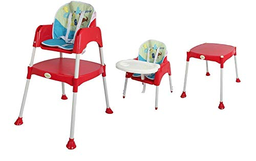 Baybee Little Miracle Beautiful-The Convertible Baby High Chair Feeding Chair Cum Study Table (with Cushion)