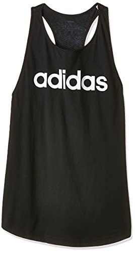 Adidas Essentials Linear Loose Tank, Canotta Donna, Nero (Black/White), S 40-42