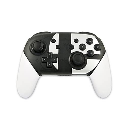 Xin Hai Yuan Controlador De Joystick De Juego Inalámbrico Bluetooth Gamepad con Eje De Captura De Pantalla De Vibración Somatosensorial para NS Nintendo Switch,Blanco