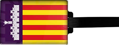 metALUm Etiqueta para Equipaje/Modelo Marco Polo/Bandera la Mallorca / 3001039