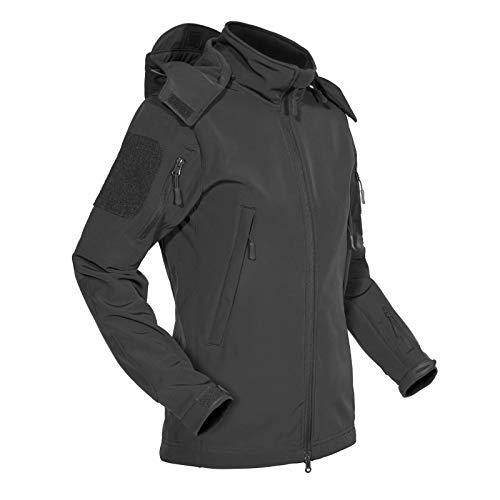 MAGCOMSEN Winter Jackets for Women Waterproof Jacket Women Softshell Warm Jackets Skiing Jackets for Women Hiking Jackets Snowboard Coats Military Jackets Rain Coats for Women Grey