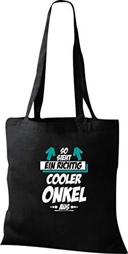 Organique Sac, Shopper, afin Sieht Ein Cooler Oncle En - Noir, 37 cm x 42 cm