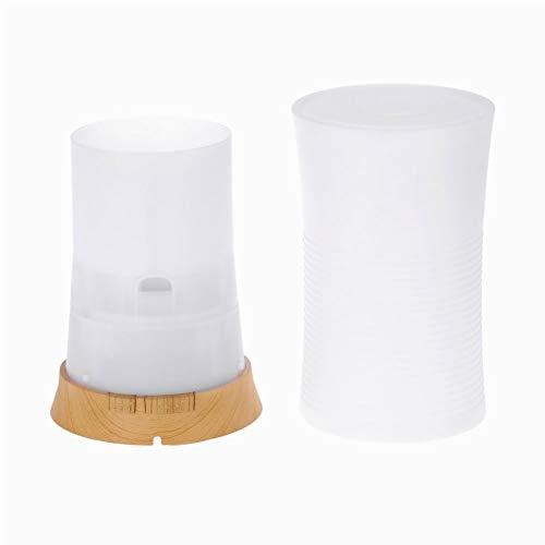 ZX Humidificador Máquina de aromaterapia Colorida Humidificador Grano de Madera Máquina de aromaterapia Ambiental Mini hogar Pequeña lámpara de Fragancia Columnar/Cintura pequeña
