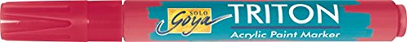 Kreul 17840?–?Solo Goya Triton Acrylic Paint Marker 1?–?4?mm, Chisel Tip, Magenta