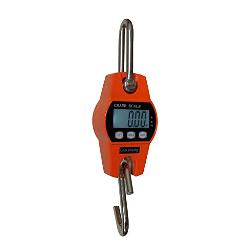 ZNND Elektronische mini-haak, draagbaar, tarra-functie, post, varken, schaap, Vieh, 300 kg elektronisch gewicht
