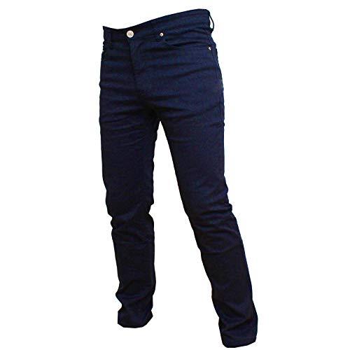 Zhang Muying Pantalone Uomo 5 Tasche Felpato Regular Fit (Blu Notte, 48)