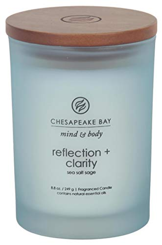 Chesapeake Bay Candle Scented Candle, Reflection + Clarity (Sea Salt Sage), Medium