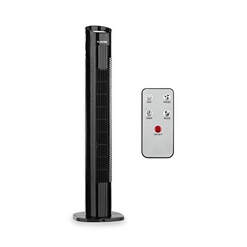 Klarstein Mana Peak - Ventilador de torre, 3 velocidades, 3 modos ventilación,...