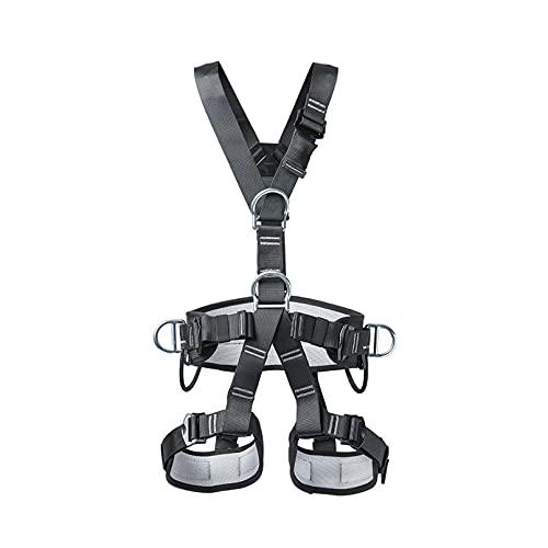 MiSMiAO Arnés de Escalada ?Unisex Cinturones de Seguridad Equipo Escalada Ajustable Equipos Anticaídas arnés de Cuerpo Completo para Parque de Atracciones y expedición de Escalada en Roca