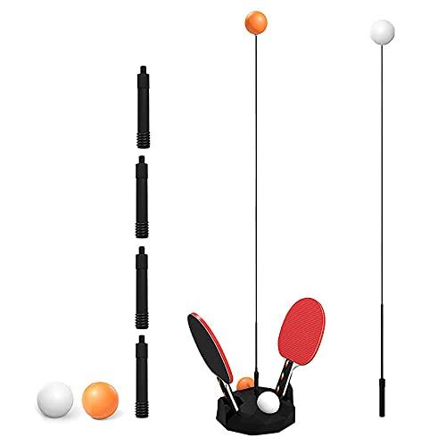 RYKJ-F Juego de Entrenador de Tenis de Mesa de 2, 4 × Ping Pong, 2 × Paleta, Equipo de Entrenador de Entrenador de Ojos de Eje Suave elástico, para la prevención de la miopía,Children