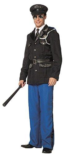 L3301230-52 - Disfraz de polica para hombre, talla 52, color azul y negro