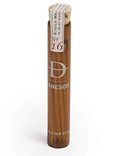 Daneson Bourbon No. 16 Toothpicks 12 Count! Whiskey Infused Flavored Toothpick! Essence Of Premium Bourbon In A Sliver Of Wood! Great Gift For Men!