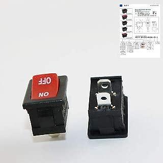 FidgetKute 1x Red RLEIL Rocker Switch On/Off 2 Pin 2 Position DPST 10A/6A 125V/250V AC RL3