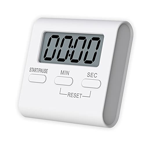 MHwan cronometro da tavolo, timer digitale, Cronometro magnetico per il conto alla rovescia Timer da cucina digitale da cucina per aula di formazione bagno cucina, 56x54x14mm