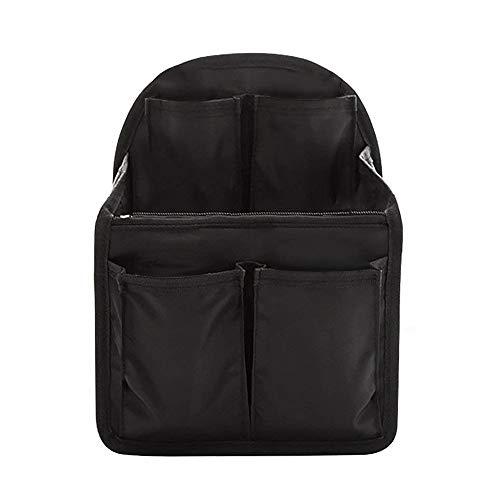 Taschenorganizer, Uong Multifunktionale Rucksack Einsatz Organizer Universal Handtaschen Organizer Bag in Bag Organizer Taschenorganizer für Rucksack (Schwarz) (20x12x27.5)
