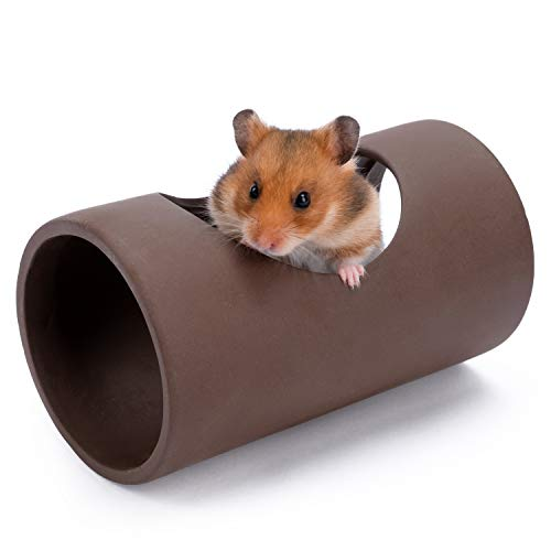 Niteangel Ceramic Hamster Tunnel & Tubes Hideout: for Dwarf Robo Syrian Hamsters Mice Rats or Other Small Animals (Tunnel - Large)