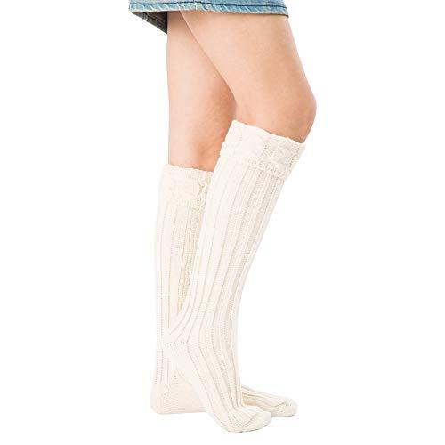 LHDDWY Thermische Sokken, 1 paar breien sok rekbare warme effen kleur sok, zachte ademende wollen sokken voor regenlaarzen Liners