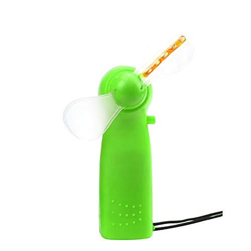 Steellwingsf Ventilador de mano, mini ventilador eléctrico de mano 4 colores cambiantes luz LED concierto Props - verde