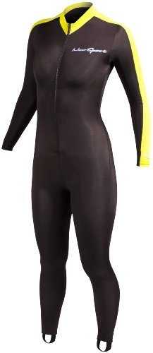 NeoSport Wetsuits Full Body Sports Skins - Yellow Trim, Medium - Diving, Snorkeling & Swimming by NeoSport
