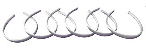 12 CERCHIETTO BIANCO CAPELLI 1.5 cm accessori parucchiera profumeria cerimonia