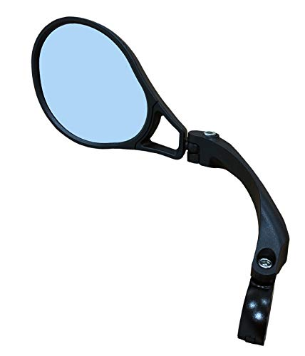Hafny E13 Approved E-Bike Mirror, Large Surface, Automotive Grade Glass (HF-M901LB-FR01) (Blue Left)