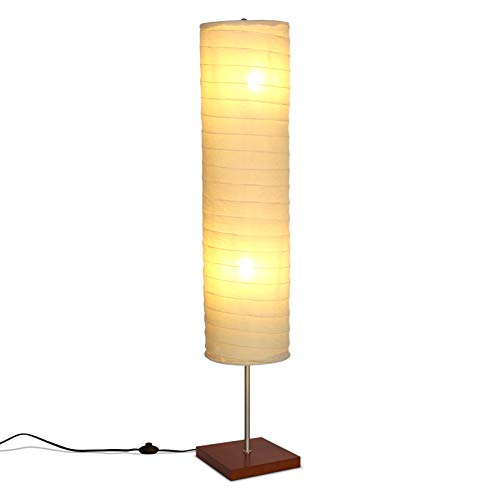 Brightech Serenity - Boho Floor Lamp for Living Rooms & Bedrooms – Soft Light for TV Watching or Bedside, Matches Mid Century Modern, Vintage, Asian Decor – Havana Brown