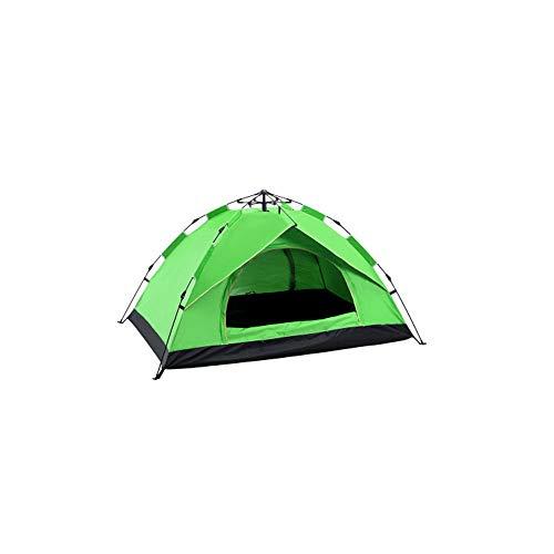 XIALIUX 3-4 Personnes Dix, Tente De Camping Étanche, Tente Ouverte Double Couche, Camping Extérieur Tente De Construction Libre Et Automatique,Green,Double