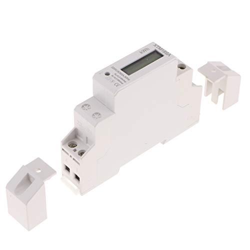 Drehstromzähler Wattmeter Stromzähler Hutschiene Energiezähler Schaltkasten kWh Wattzähler - Weiß (30) a