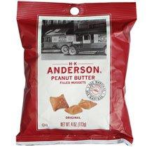 Original Peanut Butter Filled Pretzel Nuggets 4 Oz Bag Pack of 10