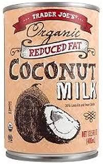 Trader Joe's Organic Reduced Fat Coconut Milk 13.5 Fl oz (CASE OF 6)