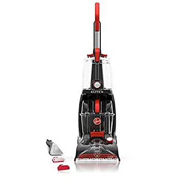 Hoover Power Scrub Elite Pet Upright Carpet Cleaner and Shampooer Lightweight Machine Red FH50251PC