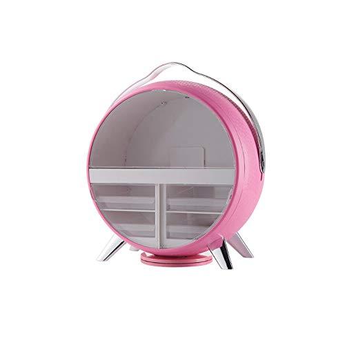 Siunwdiy Kosmetisches Aufbewahrungsbehälter-Desktop-Tray LED-Spiegel-Make-Up-Organisator-Halter Storage Rack Schlafzimmer Badezimmer große Kapazitäts-Make Up Store...