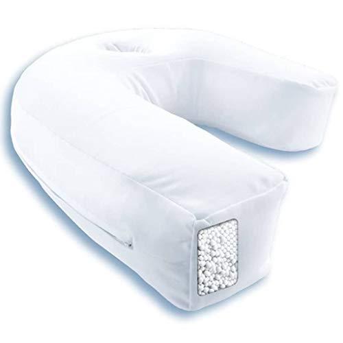 Side Sleeper Pro Air - Seitenschläferkissen - Perfekte Unterstützung - Korrekte Haltung Von Hals Und Wirbelsäule - 42x37x15cm – Weiß