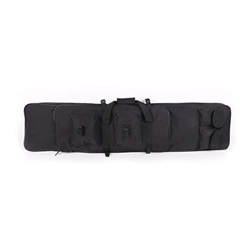 LUVODI Bolsa para Rifle Funda para Armas Pistola Bolsa de Almacenamiento con Correa de Hombro para Caza Pesca Mochila de Nylon Impermeable 100 x 30 x 7 cm Color Negro