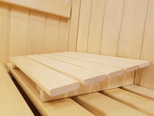 AGANDE Sauna Kopfstütze J-007 Saunakopfstütze Nackenstütze Beinauflage Rückenlehne Rückenstütze Saunazubehör Espenholz kein Nadelholz daher ohne Harz und nur wenig wärmeleitend