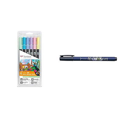 Set De 6 Rotuladores Dual Brush Colores Pastel Tombow + Rotu