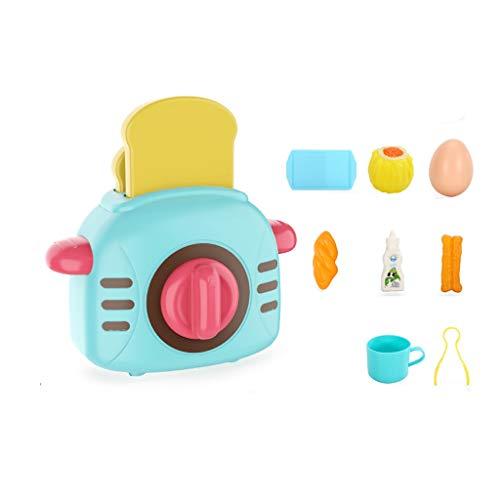 kids toys LHY - Juego de juguetes de cocina, utensilios de cocina, accesorios de cocina, simulación de cocina y simulación de cocina (juego de 12 piezas) moda (color: azul)