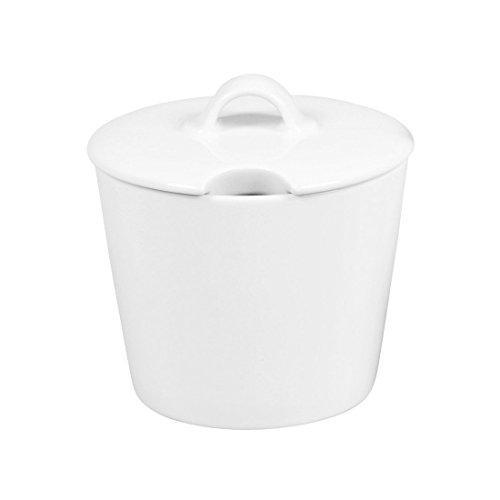 Arzberg Cucina-Basic ROK Weiss Zucker-/Marm.Dose 6P, Porzellan, White, 12.5 x 12.5 x 12.3 cm