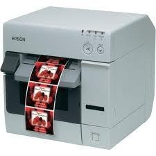 Epson TM-C3400, Cutter, Ethernet, weiß, Farb-Etikettendrucker, Tintenstrahl (mehrfarbig), Medienbreite (max): 108mm, Druckbreite (max.): 104mm, inkl.: Netzteil,