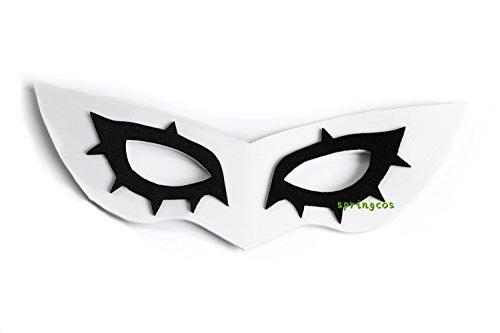 springcos Mask for Persona 5 Hero Kurusu Akatsuki Cosplay Accessory EVA Handwork White