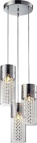 Lampex 192/3P Torino 3P lampada a sospensione, metallo, argento, E14