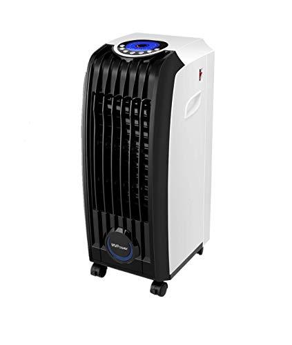 MVPower 3 en 1 Enfriador de Aire, 60W Portátil Climatizador Evaporativo, 3 Velocidades Acondicionado Móvile con Control Remoto y 2 Baterías de Enfriamiento y Temporizador, 5.2 L