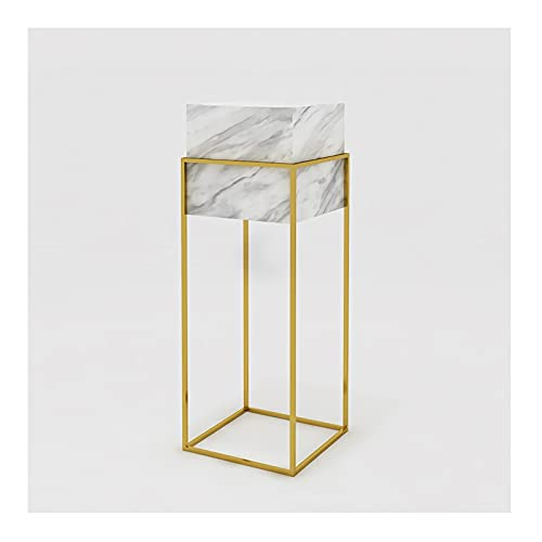 DAGCOT Soporte de exhibición Cuadrado Moderno, Bastidor de la Base de Metal de Oro, Tienda de Almacenamiento de Sala de Estar al por Menor, 24/30/35 Pulgadas 3 tamaños de Altura (Size : Medium)