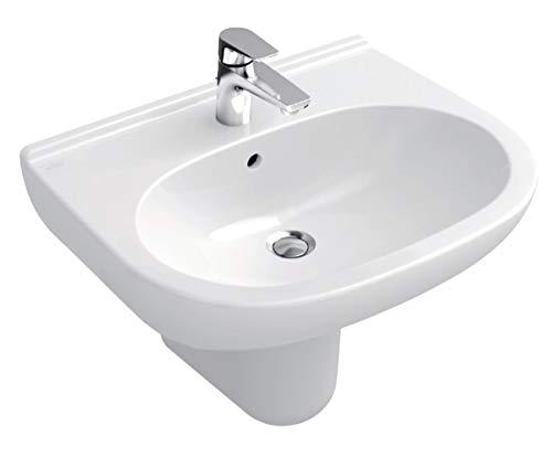Villeroy & Boch Waschtisch O.novo 516061 600x490mm mittl Hl. durchgest m. Ül. weiß a., 51606101