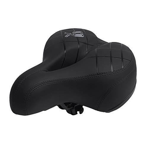 BWBIKE breiter, weicher, flexibler Fahrradsattel, stoßfestes Design, extra Komfort, für Mountainbike, Klapprad, Rennrad, Spinningrad, Heimtrainer, Damen, Schwarz 874