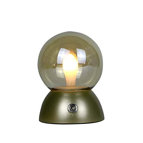 Lámparas de mesita de noche, lámpara de mesa, estilo industrial británico, lámpara de noche, pulsador, uso en cafetería Bar (color #1)