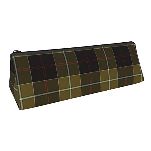Triangle Pen Bag Dunlop Hunting Tartan Cosmetic Bags Storage Bags Stationery for Schools Students Offices Pen Pouch 8.6 X 3.1 Inch
